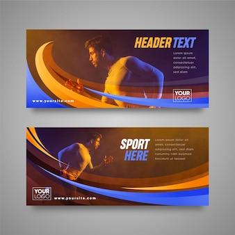 Sport banner ontwerp