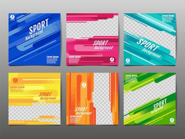 Sport banner social media, abstracte dynamische, grunge textuur.