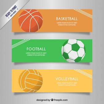 Sport banners collectie
