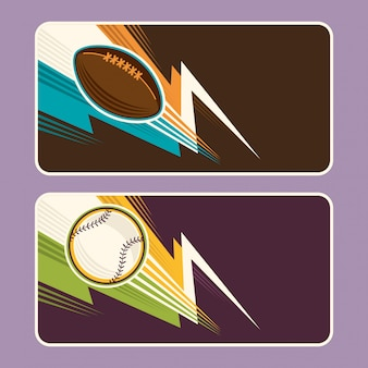 Sport banners ontwerp