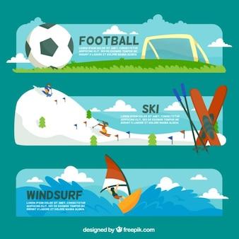 Sport banners set
