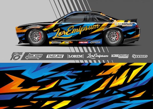 Sport car wrap ontwerpen