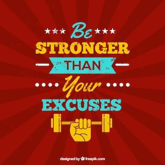 Sport citaat achtergrond met inspirerende boodschap