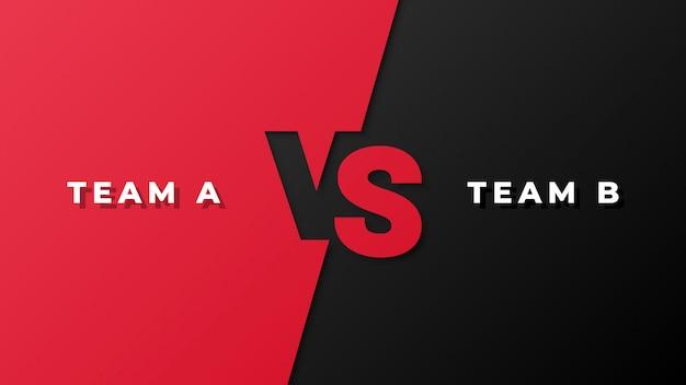 Sport competitie rood en zwart versus achtergrond