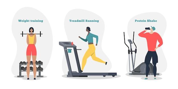 Sport concept illustratie