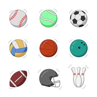 Sport doodle. sport vectorillustratie