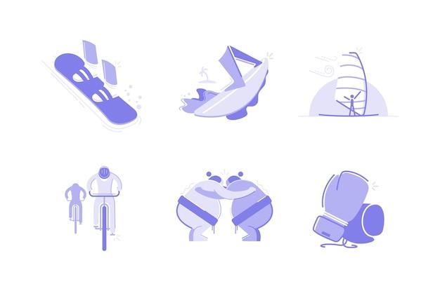 Sport en activiteiten illustratie