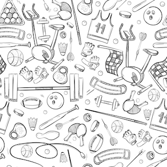 Sport en fitness doodle