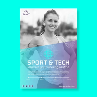 Sport en tech flyer-sjabloon