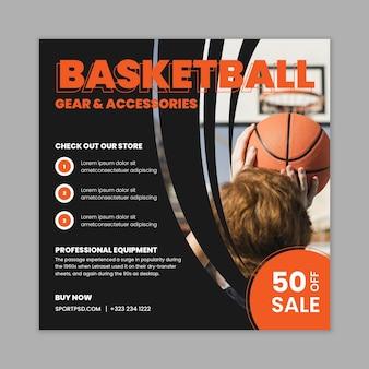 Sport en tech flyer vierkant