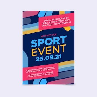 Sport evenement poster sjabloon