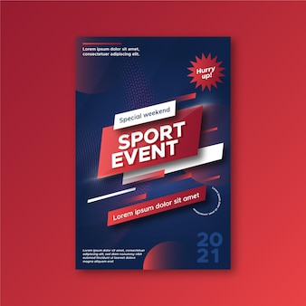 Sport evenement poster sjabloon