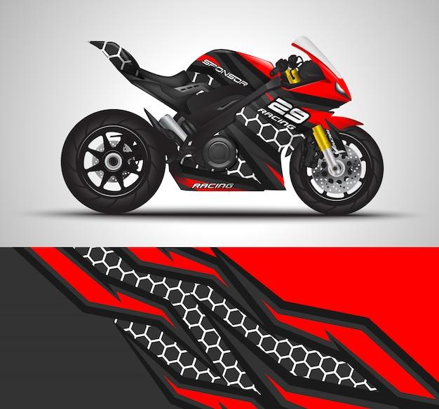 Sport fietsen wrap sticker en vinyl sticker illustratie