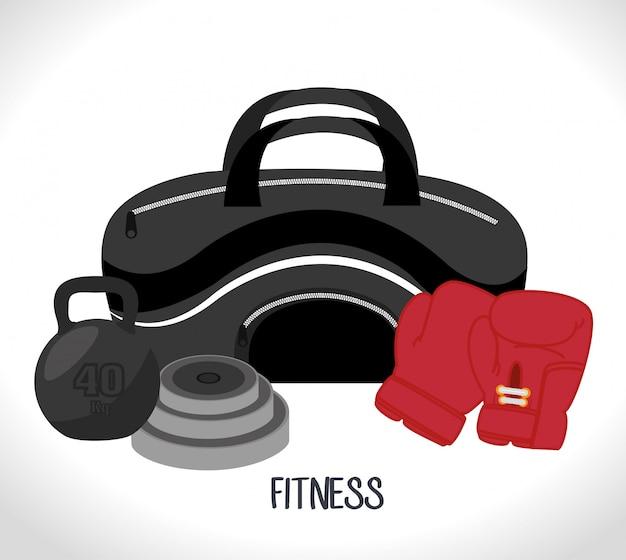 Sport fitness illustratie