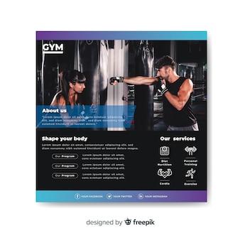 Sport flyer met foto