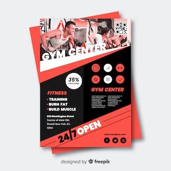 Sport flyer met stel je sjabloon voor