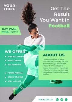 Sport flyer ontwerp voetbalevenement
