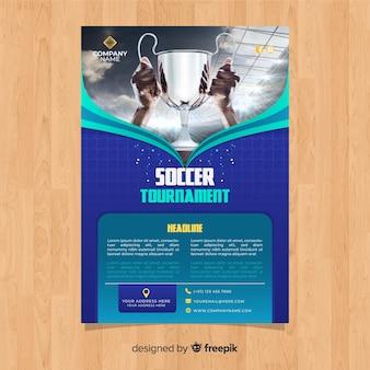 Sport flyer-sjabloon met foto