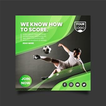 Sport flyer-sjabloon