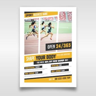 Sport folder sjabloon met foto