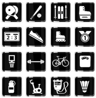 Sport gewoon symbool voor webpictogrammen