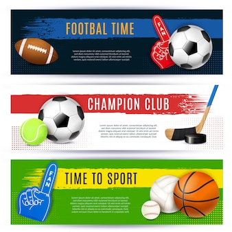 Sport horizontale banners collectie