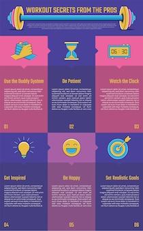 Sport infographic voor presentatie.