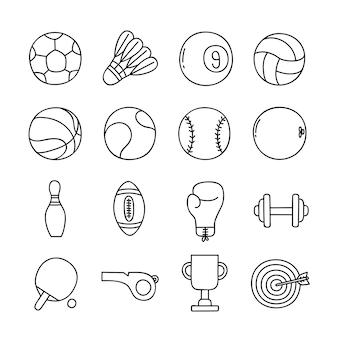 Sport instellen overzicht pictogram