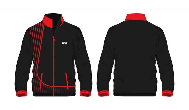 Sport jacket rode en zwarte sjabloon voor ontwerp.