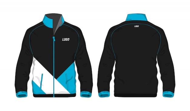 Sport jas blauw en zwart sjabloon voor ontwerp op witte achtergrond. vector illustratie eps 10.