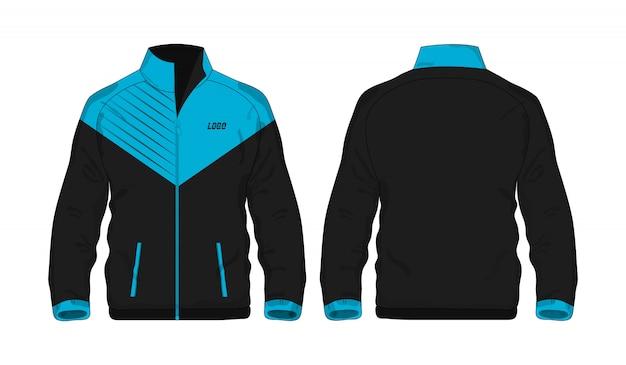 Sport jas blauw en zwart sjabloon voor ontwerp op witte achtergrond.