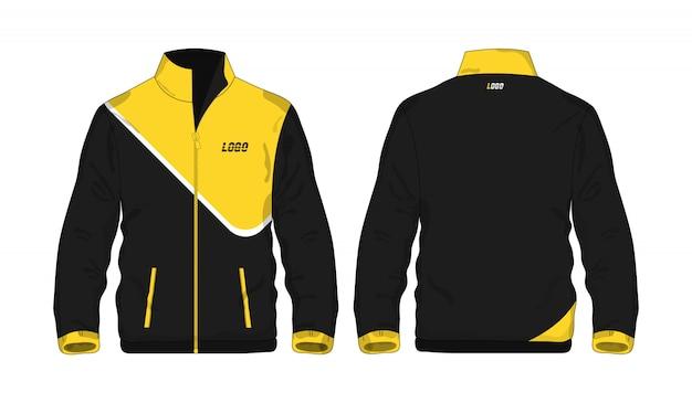 Sport jas geel en zwart sjabloon voor ontwerp op witte achtergrond. vector illustratie eps 10.