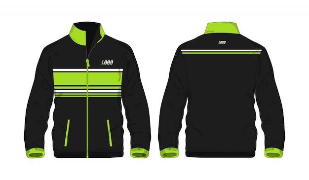 Sport jas groen en zwart sjabloon voor ontwerp op witte achtergrond. vector illustratie eps 10.