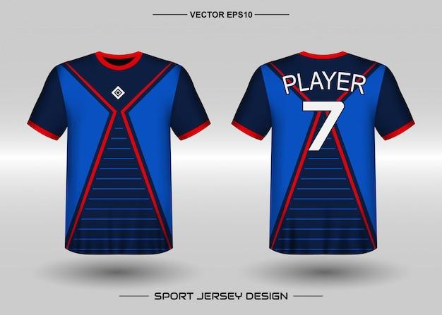 Sport jersey ontwerpsjabloon voor voetbalteam