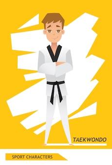 Sport karakters taekwondo speler