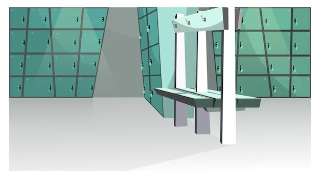 Sport kleedkamer illustratie
