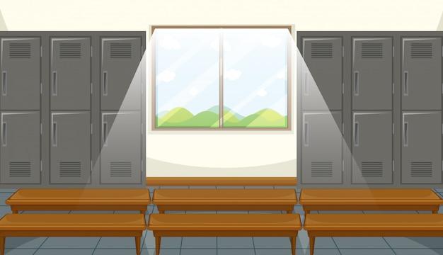 Sport kleedkamer met locker achtergrond