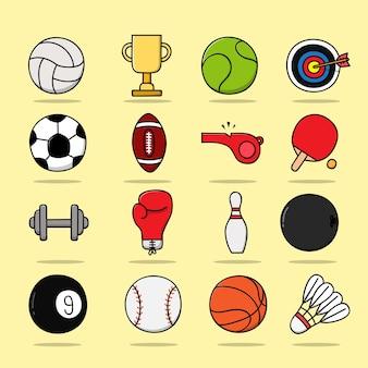 Sport kleuren pictogram