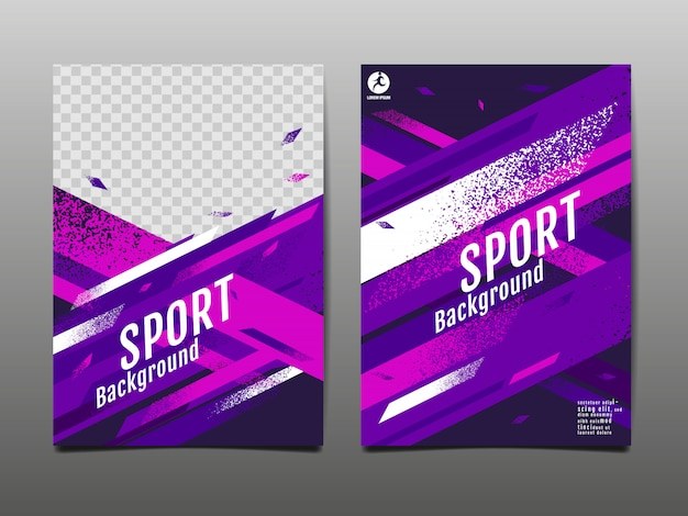 Sport lay-out, sjabloon, abstract