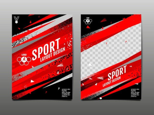 Sport lay-out sjabloon abstracte achtergrond grunge