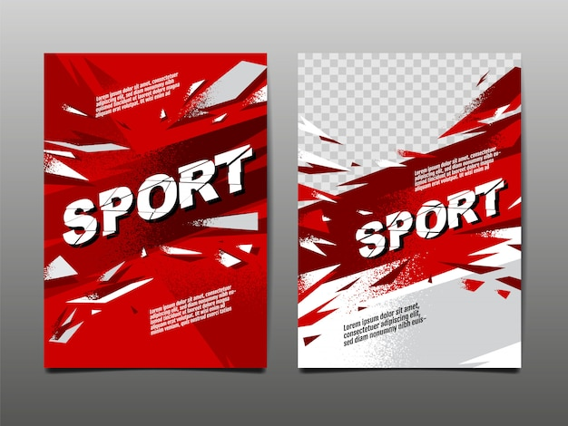 Sport lay-out, sjabloon.