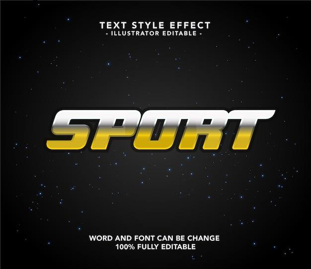 Sport lettertype goud
