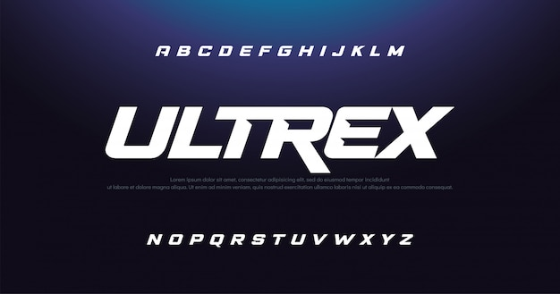 Sport lettertype typografie stedelijke typografie