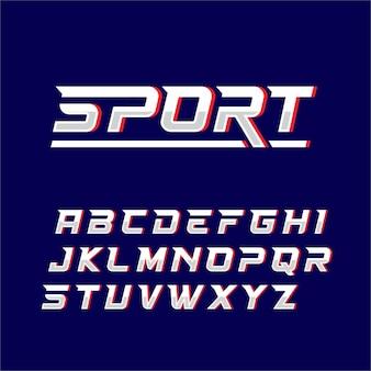 Sport lettertype