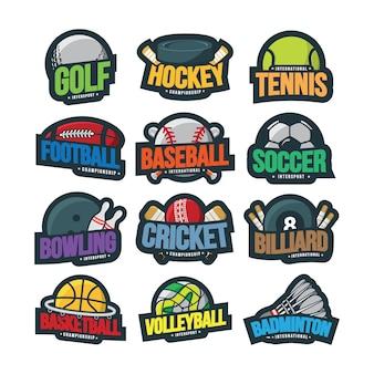 Sport logo illustratie vector