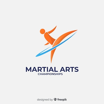 Sport logo sjabloon met abstracte vorm