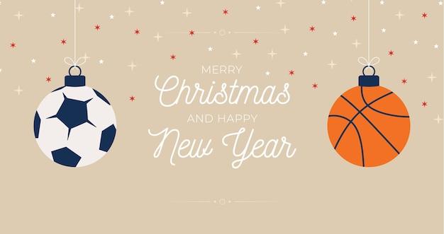 Sport merry christmas illustratie