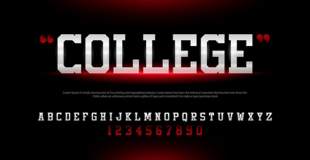 Sport modern alfabet lettertype en nummer. typografie stedelijke stijl lettertypen