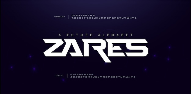 Sport moderne toekomstige alfabet lettertype