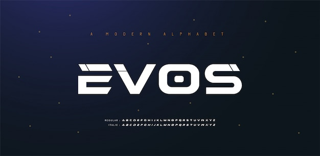 Sport moderne toekomstige cursief alfabet lettertype. typografie stedelijke stijllettertypen voor technologie, digitaal, filmlogo cursief. illustratie
